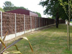 brande, clôture, jardin